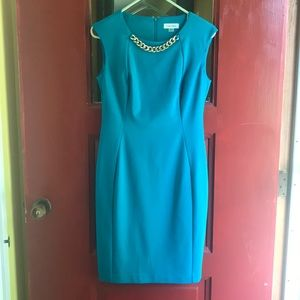 Teal Calvin Klein dress